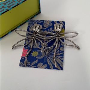 Tory Burch Articulated Dragonfly Earrings - Silver